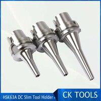 Desconto de alta precisão  hsk63a hsk63f DC12-120L hsk63 dc6 dc8 dc12 precisão slim hsk63a haste dc slim suporte de ferramenta de mandril