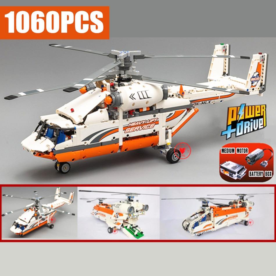 Novo Poder MOC Fuction Helicóptero Fit Legoings Técnica Cidade Modelo Brinquedos Tijolos de Bloco de Construção Menino DIY Presente de Aniversário Do Miúdo Meninos