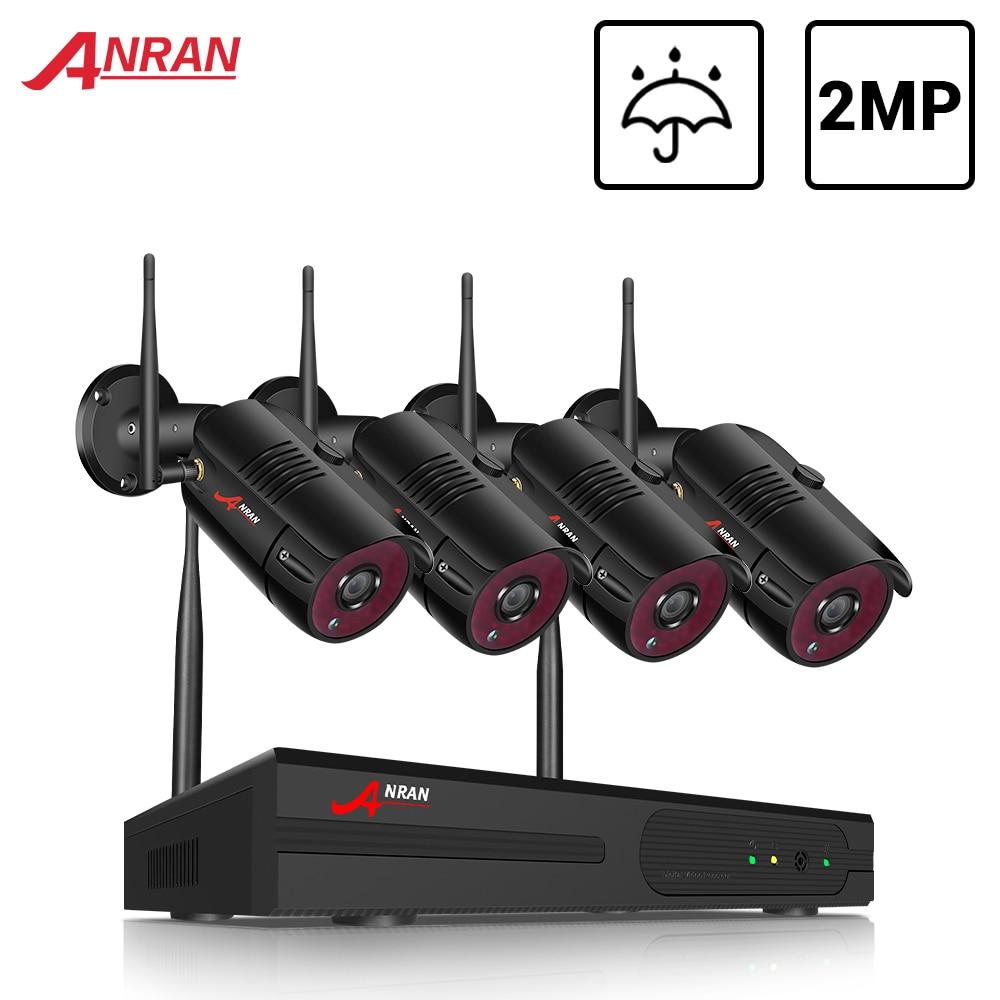 ANRAN cctv 2MP система безопасности комплект беспроводная система видеонаблюдения Водонепроницаемая наружная камера ночного видения HDD NVR компл...