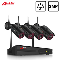 ANRAN cctv 2MP Security Camera System Kit Wireless Video Surveillance System Waterproof Outdoor Camera Night Vision HDD NVR kit