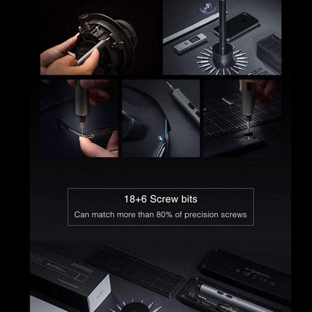 H5c6c9534055b43dbaebcd0278f1fcb86V - Electric Screwdriver  3-speed Screwdrivers Pen 24pcs Precision Bits Set Cordless Magnetic Screw Driver Phone Device Repair