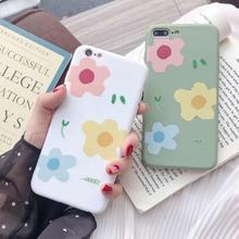 IMIDO New Anti-fall Flower TPU Soft Silicone Cases For iphone 6/7/8/X /Xs/ Xsmax/Xr Cute Simple Fashion Phone