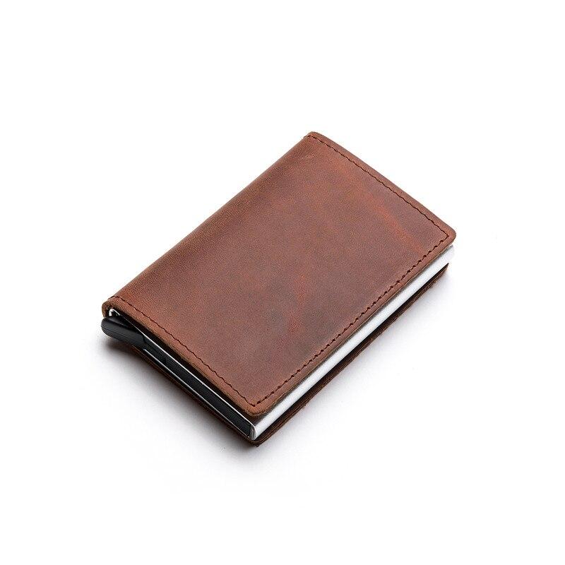 Zovyvol carteira em couro legítimo rfid, carteira estilo clutch pop-up feita em couro legítimo com compartimento para cartões, de 2020 fino inteligente e inteligente