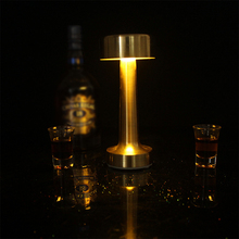 Touch Sensor LED Table Lamp Bar Lights Desk Lamp Chargeable Gold Table Lamps for Restaurant Coffee Shop Lamps Table Nightlight