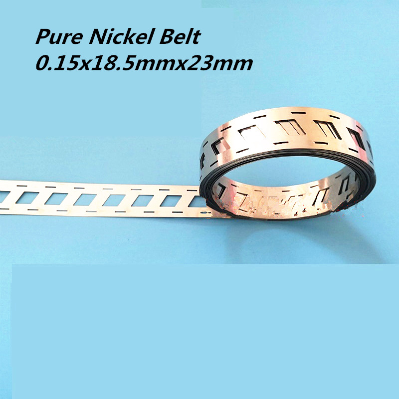 2P Pure Nickel Belt 0.15x18.5mmx23mm 18650 Lithium Battery Spot Welder Nickel Strip Nickel Li-ion Batteries Used Spot Welding