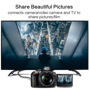 Image 3 - Mini HDMI HDMI Cable1.4 sürüm yüksek hızlı adaptör 1080p 3D için altın kaplama ile projektör HDTV lcd tv kamera düz erkek Erkek