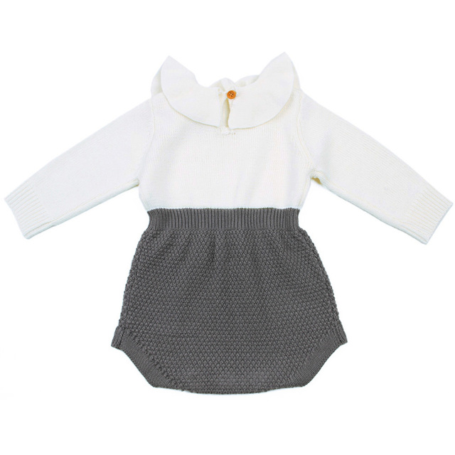 2019 Autumn Winter Newborn Baby Clothes Infant Toddler Girl Sweaters Rompers Wool Knitting Long Sleeve One-piece Outfits 0-24M 4