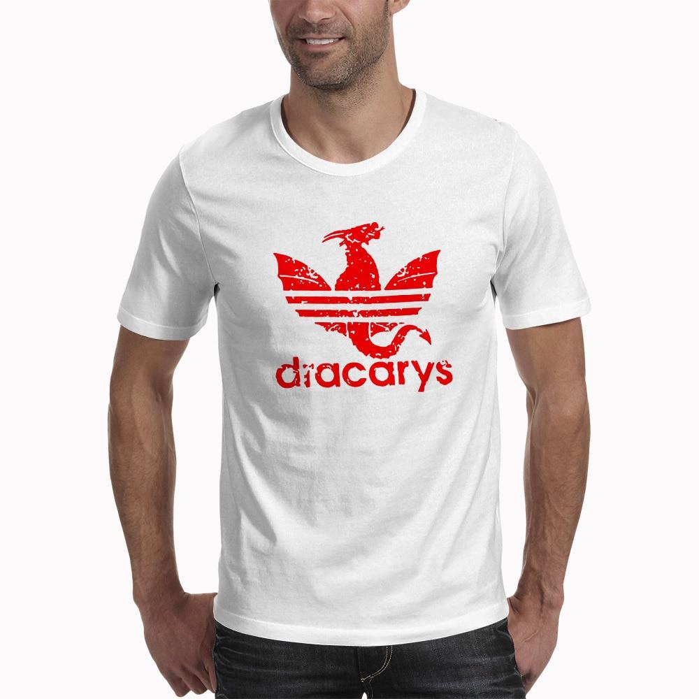 Game Of Throne Dracarys T Shirts Men Harajuku Vintage Style T-shirt Camisetas Hombre Tshirt Streetwear Men Clothing