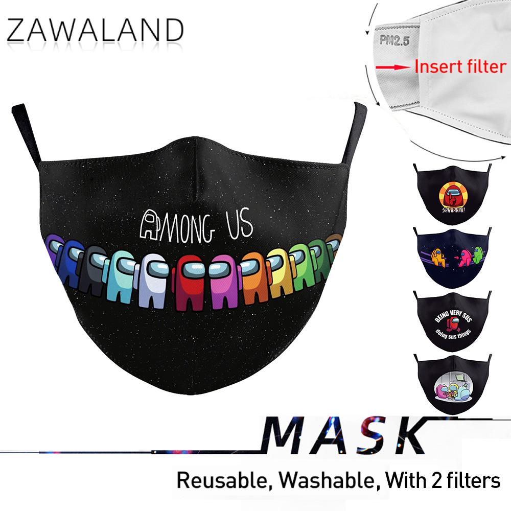 Zawaland Among Us Mouth Mask 3D Printed Face Mask Christmas Cosplay Mask Mouth Cap Carnival Xmas Gifts for Adult Children