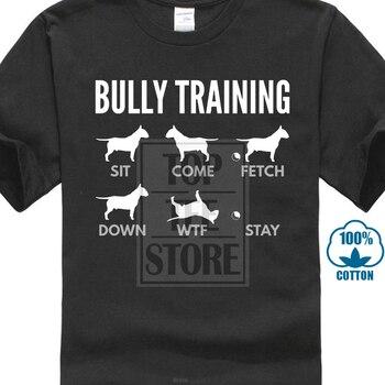 Men Nice Shirts English Bull Terrier Bully Training Dog T Shirts Harajuku Crazy Junior Humorous T Shirts Super Hero 013241