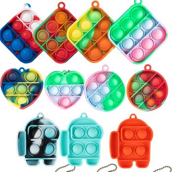 Mini Pop to wśród nas Bubble Sensory Push poput dla dzieci dzieci dorosłych 2021 nowy Push Pop Pop Bubble sensoryczne zabawki typu Fidget Drop tanie i dobre opinie CN (pochodzenie) fidget toys Dla osób dorosłych kostiumy Stress Relief Toy