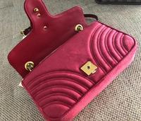 Female Luxury Handbags Purse Classic suede Genuine Leather Heart shaped Suture Shoulder Bags Women Fashion Lady Squar Bag