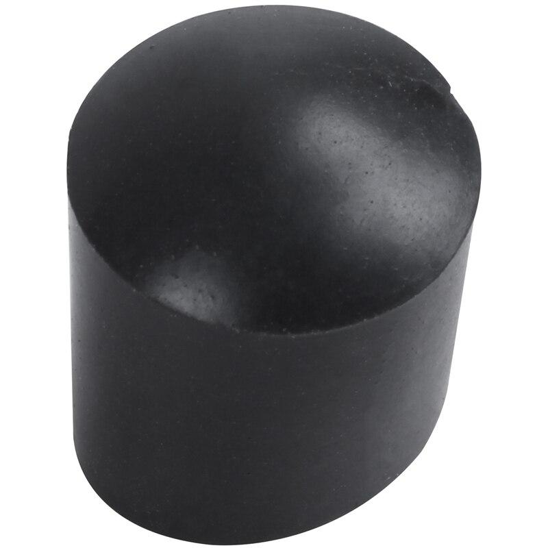 ELEG-Rubber Caps 40-piece Black Rubber Tube Ends 10mm Round