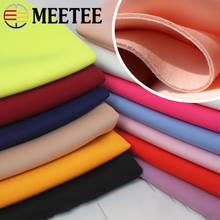 Meeetee 50cm/100cm Space Cotton Fabric Width 160cm Knit Elastic Cloth for Garment Jacket Skirt Sewing DIY Accessories FA218