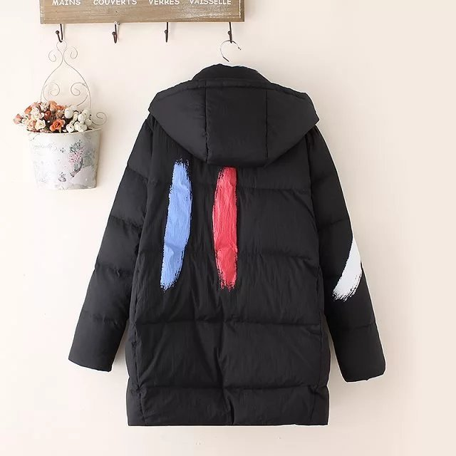 Winter Down Jacket Women Thick Warm Ultralight White Duck Down Coat Female Hooded Fashion Clothing Casual Overcoat 47051