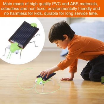 цена на Solar Power Grasshopper Toys Powered Grasshopper Robot Toy green Educational required Gadget solar No batteries for kids 3 year