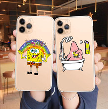 Funny Spongebob Piestar Case For iPhone 11 pro MAX XS XR 6 6S 7 8 Plus 5 5S SE Soft silicone Phone Cove case