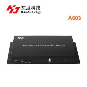 Image 3 - Huidu HD A601 HD A602 HD A603 wsparcie 3G 4G WiFi wydać w pełnym kolorze dual mode huidu A601 A602 A603 z S108 czujnik pole