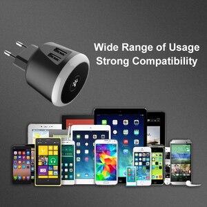 Image 5 - VOXLINK 5V2. 4A chargeur de voyage intelligent avec LED veilleuse double usb charge pour iPhone Samsung Xiaomi voyage chargeur universel