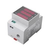 AC80 300V/100A Numérique Compteur D'énergie de Rail Din LED Active du Facteur de Puissance Puissance Multifonctionnelle Rencontré Compteur De Puissance Mesureurs de puissance     -