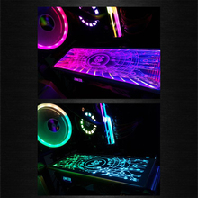 Customized Colorful Graphics Card Backplate Iridescence Chassis Personal Light Board PC Case Side Panel Graphic Cards Case iridescence clear pencil case