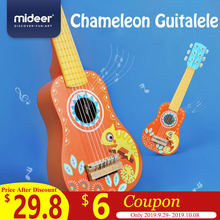 цены MiDeer Guitar Wood Kids Music Guitar Ukelele Basswood 6 String Guitarra Educational Musical Concert Instrument Toy Kids Gift