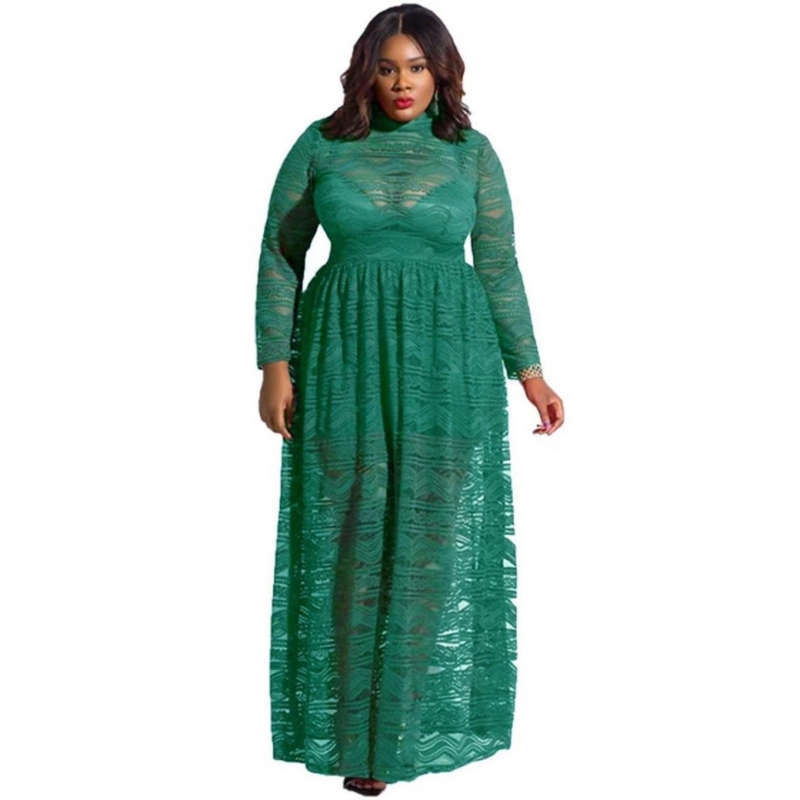 4XL 3XL Lace Dress African Dresses For Women Fashion African Dashiki Long Dresses Women Long Sleeve Casual Print African Clothes