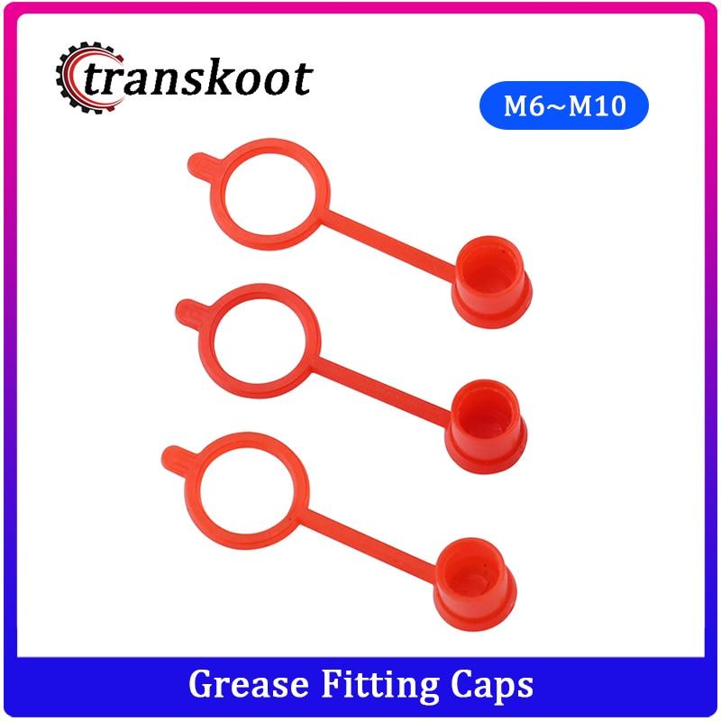 300pcs 200pcs 100pcs M6 M8 M10 RED Polyethylene Plastic Dust Cap Dust Cover Protection Cover Cap For Grease Gun Zerk Fitting