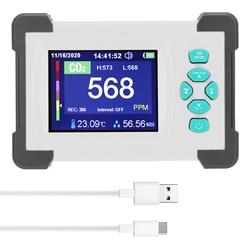 Detector de co2 monitor portátil medidor de dióxido de carbono com caixa de armazenamento suporte gerar e exportar arquivo pdf qualidade do ar tester