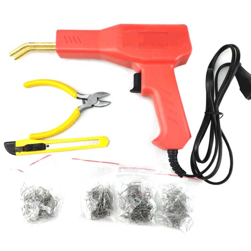 GTBL Handy Plastic Welder Garage Tools Hot Stapler Machine Staple Plastic Repairing Machine Car Bumper Repair Stapler Eu Plug