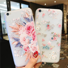 Emboss Floral Phone Case For iPhone 11 X XS XR Xs Max 3D Relief Flower Soft TPU Silicon Cover Case For iPhone 6 6s 7 8 Plus