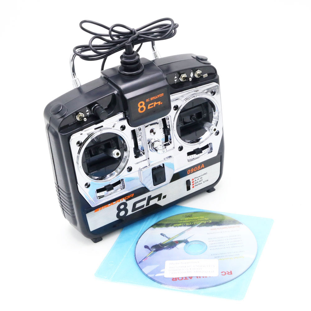 1pcs 8CH 16 in 1 RC Flight Simulator JTL-0908A Support Realflight G7 Phoenix 5.0 XTR Remote Control Helicopter Fixed-wing Drone
