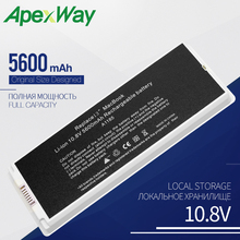 "Apexway белый Аккумулятор для ноутбука Apple MacBook 1"" A1185 A1181 MA561 MA561FE/A MA561G/A MA254 5600 mAh 10,8 V"