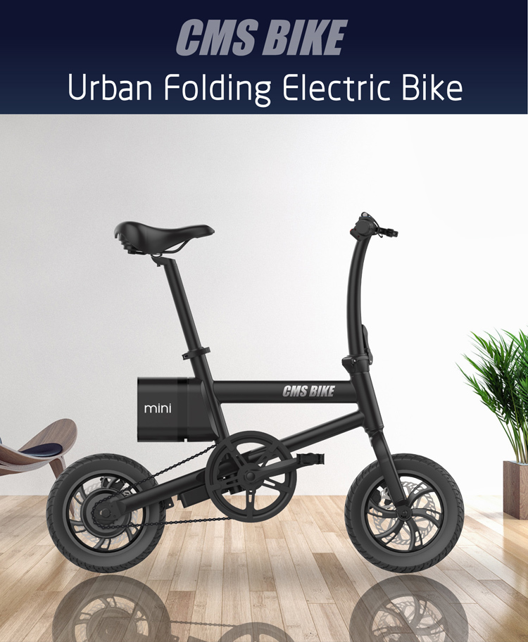 12 inch folding electric bike 250w folding electric bicycle mini foldable ebike for adults