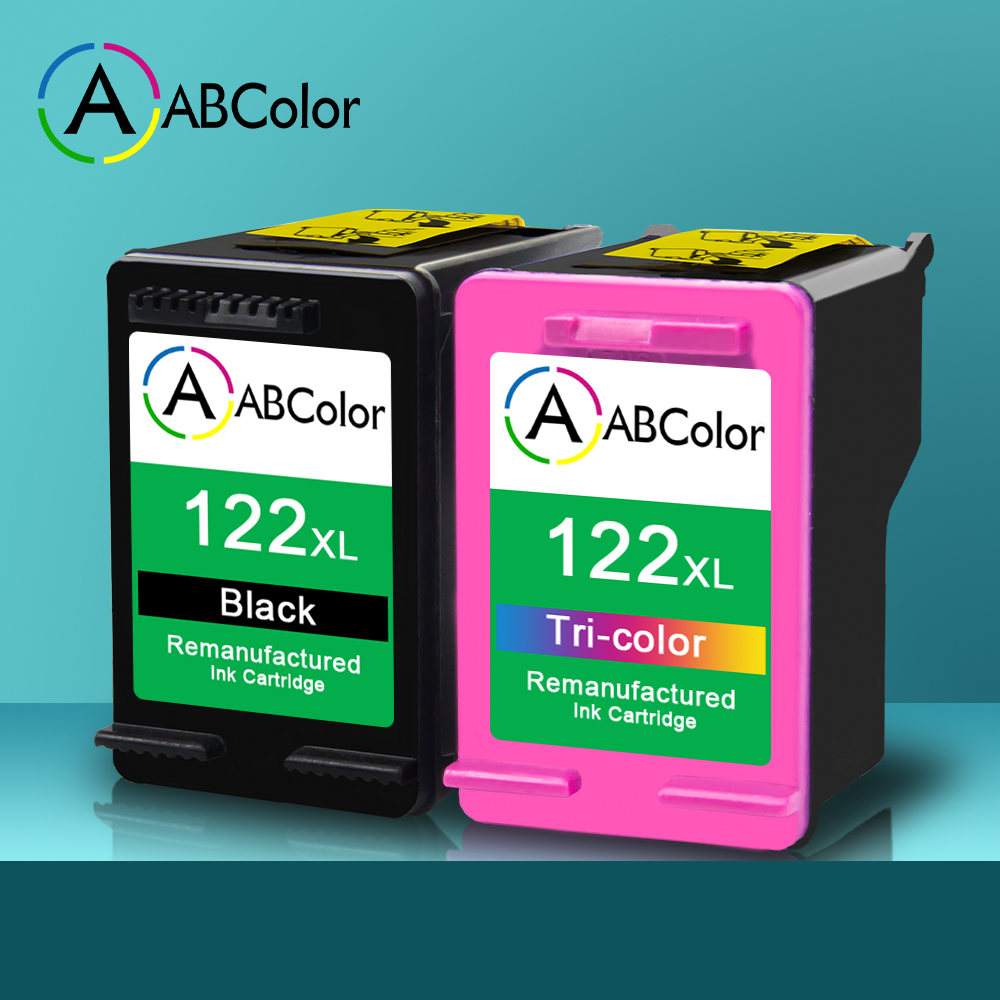 A ABCOLOR 122XL <font><b>Ink</b></font> <font><b>Cartridge</b></font> Compatible For <font><b>HP</b></font> 122XL <font><b>Ink</b></font> <font><b>Cartridge</b></font> OfficeJet <font><b>2620</b></font> 2622 2623 4630 4632 Deskjet 3050 Printer image