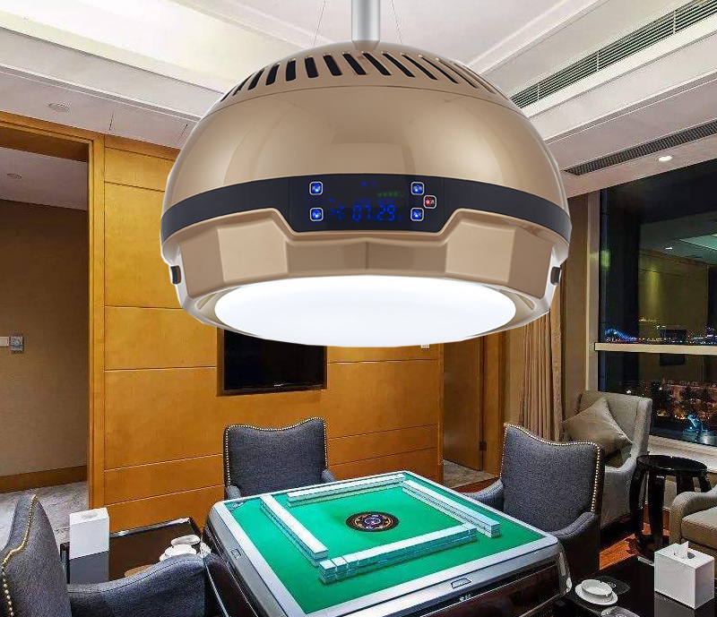 Sunny Led Ceiling Fans Light Smoking Opportunity Tea House Household Mahjong Machine Air Purifier Ceiling Fans With Lights