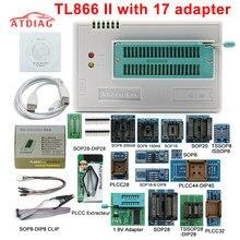 TL866II Plus COM 21 ADAPTADOR USB Universal Bios Programador/ECU Programador + adaptadores 1.8V nand flash 24 24 93 25 mcu