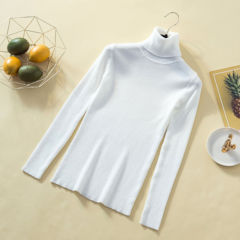 Turtleneck Solid Pullovers Women Sweaters Winter Vintage Lady s Knitted Sweaters Female Korean Long Sleeve Kawaii