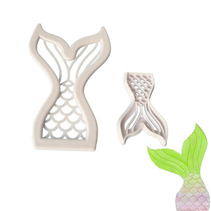 New Products Mini Fishtail Cutter DIY Bakery Mermaid Cake Mould Manufacturers Direct Selling Currently Available Supply