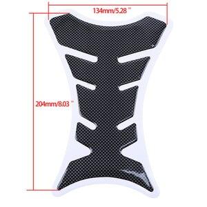 3D наклейки из углеродного волокна для рыбьей кости, автомобильный Мотоциклетный Бак, коврик для танка, протектор для мотоцикла, универсальный Рыбий кости