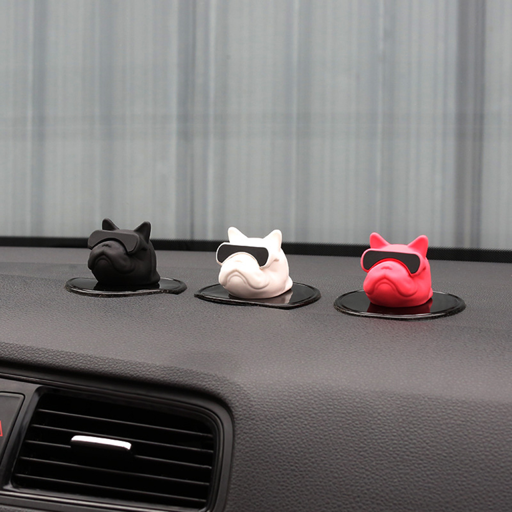 1pc Car Ornaments Decorations PVC French Bulldog Doll Cute Decoration Automobiles Interior Dashboard Dog Toys Auto Accessorie