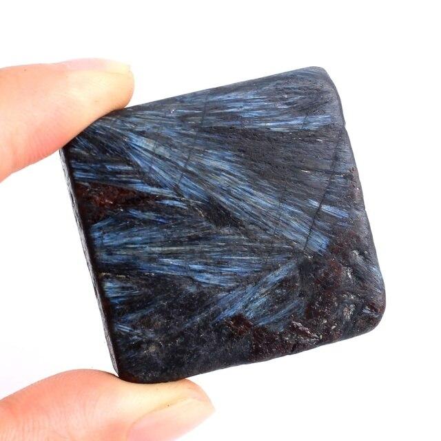 1Pc 고품질 자연 플래시 Astrophyllite 불꽃 놀이 돌 큐브 크리스탈 미네랄 표본 세련 된 광장 치유 돌 장식