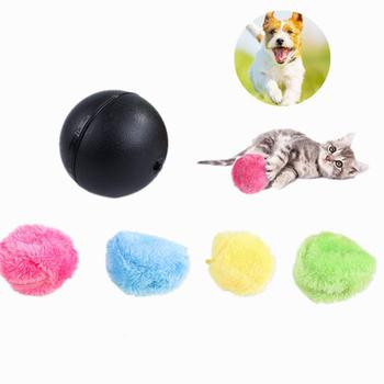 Pet Dog Cat Electric Toy Ball Magic Roller Ball Toy Automatic Roller Ball Magic Ball Dog Cat Pet Toy Supplies Battery Needed