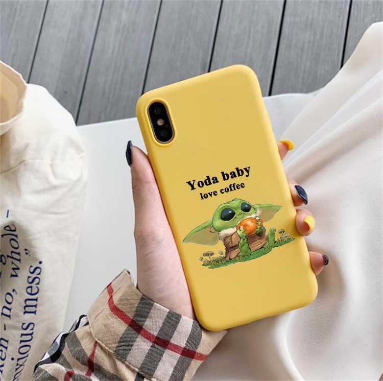 Bambino meme sveglio molle del silicone di colore cassa Del Telefono della copertura di shell per apple iPhone 6 6s 7 8 Più di X XR XS 11 Pro Max