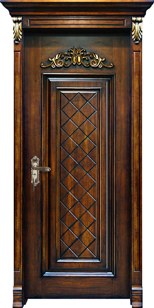 Customized Solid Wood Interior Door  Luxury Carving Designs Thailand Oak Solid Timber Doors C017