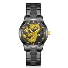 Relogio Masculino Dragon Watches Men Quartz Sport Stainless Steel Band Watch Quartz Business Wristwatch Reloj Hombre gimto watches men luxury brand clock reloj relogio masculino military quartz watch stainless steel men wristwatch reloj hombre