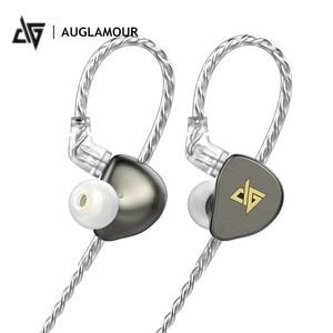 Auglamour проводные наушники с микрофоном Динамический драйвер HiFi стерео металлические музыкальные наушники спортивные наушники-вкладыши