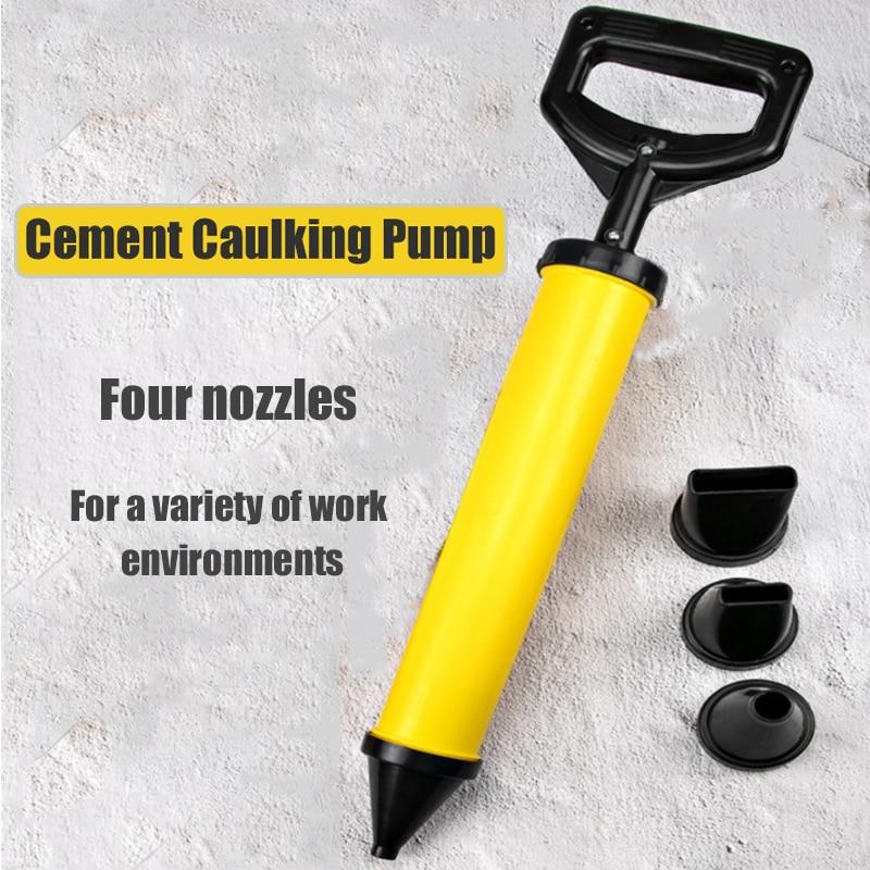 4/5 Head Caulking Gun lime Cement Mortar Sprayer Applicator Grout Cement Mortar Filling Gun Cement Caulking Pump