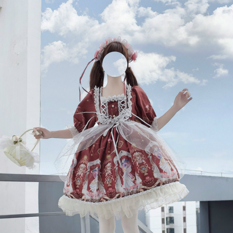 Lolita Sweet Princess Sleeveless Bowknot Cat Dress Multicolor Free Shipping