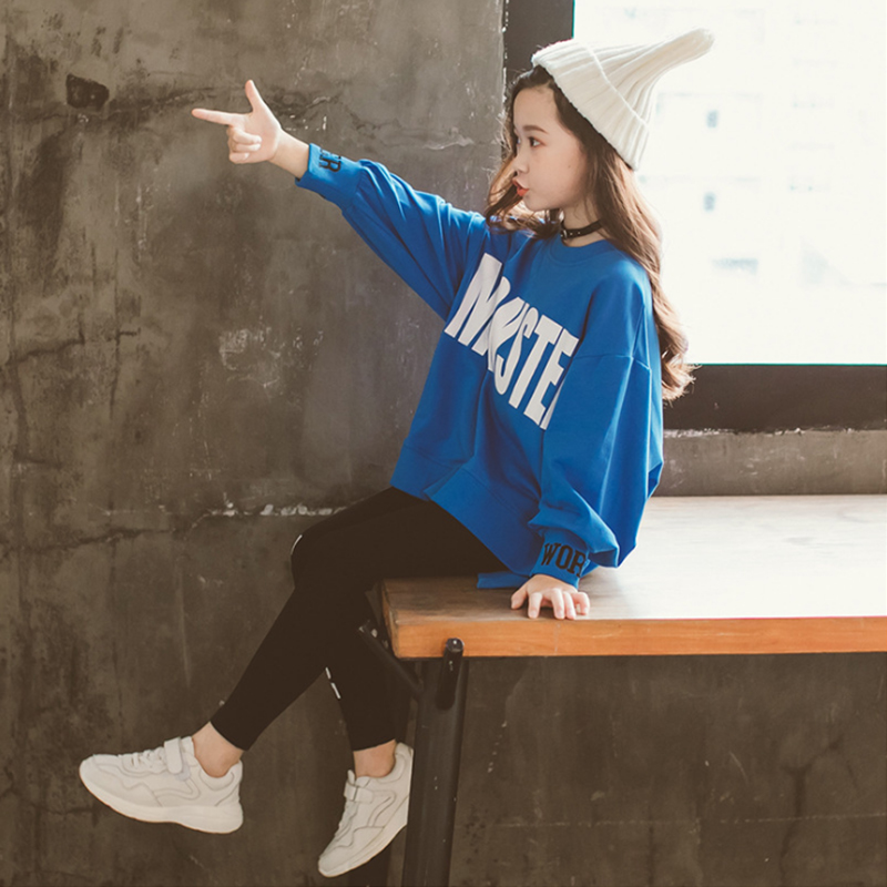 Kids Girls Clothes Sets Long Sleeve Sweater Hoodies + girl leggings  Pants Autumn 3 5 7 8 10 12 Years baby girl clothes 6